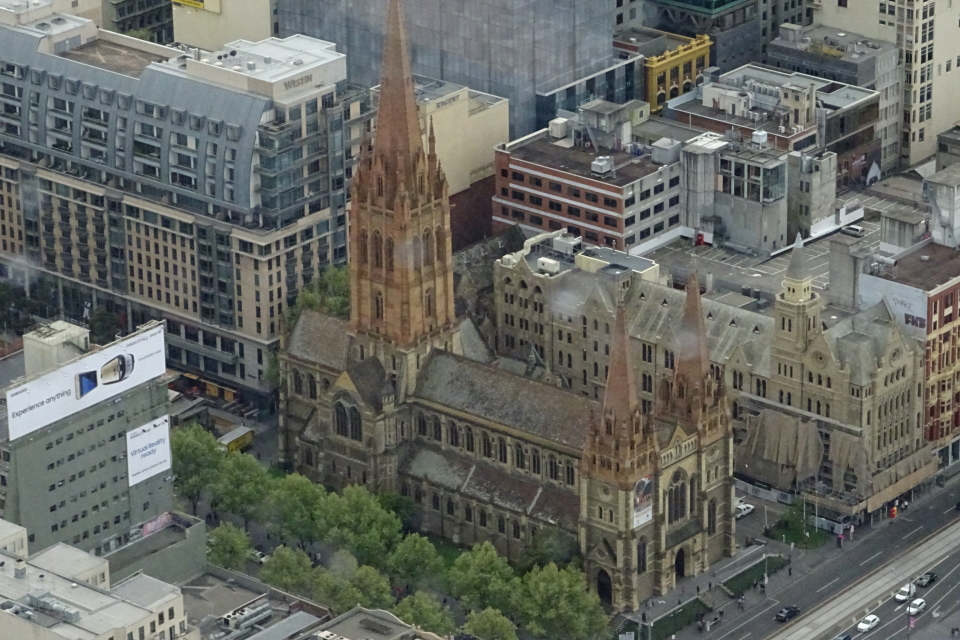 St.Paul's Cathedral da Eureka Tower.