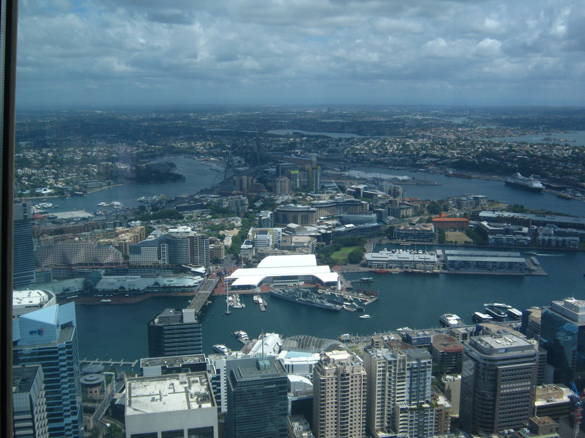 Darling Harbour dalla Sydney Tower.