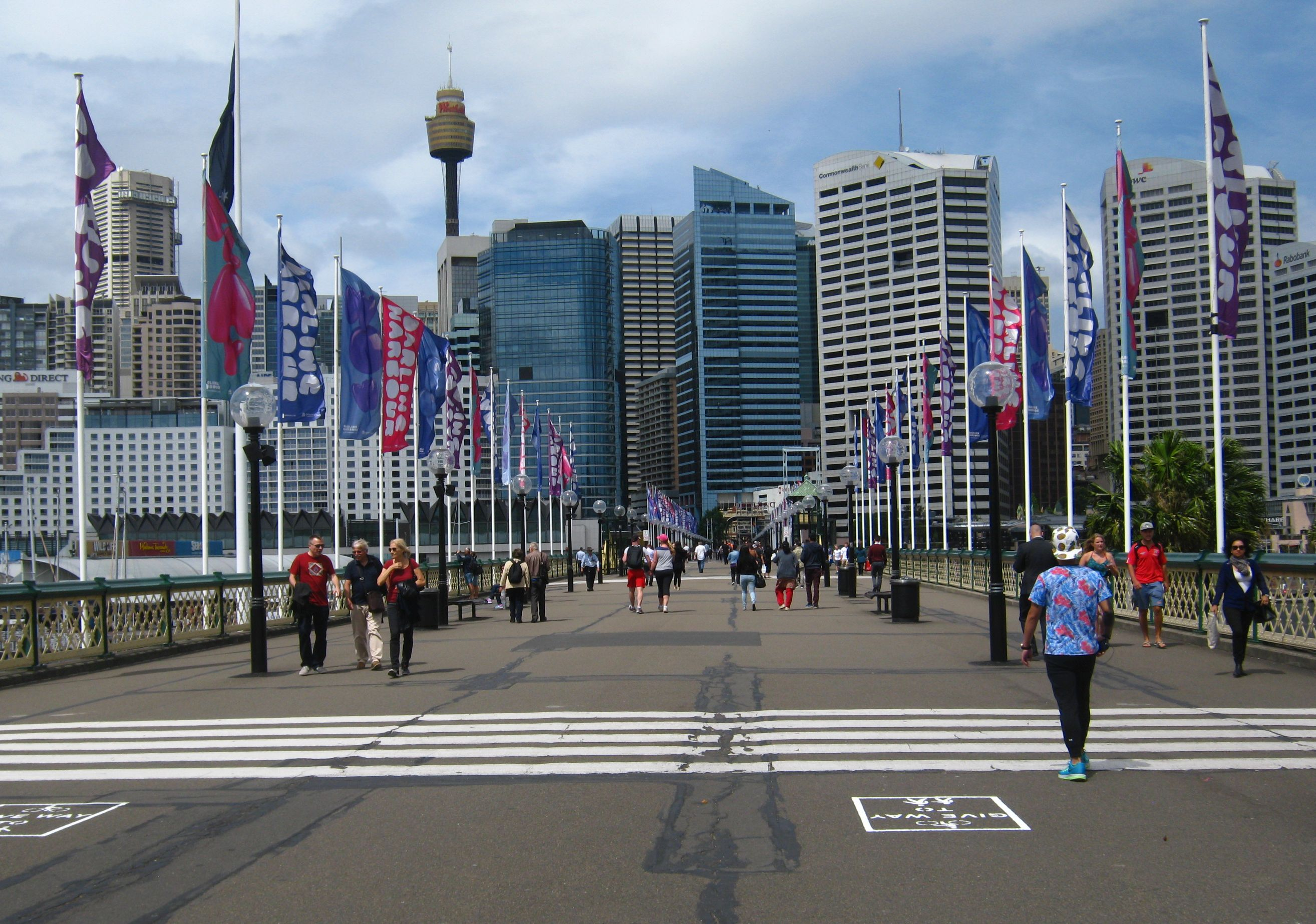 Pyrmont Bridge.