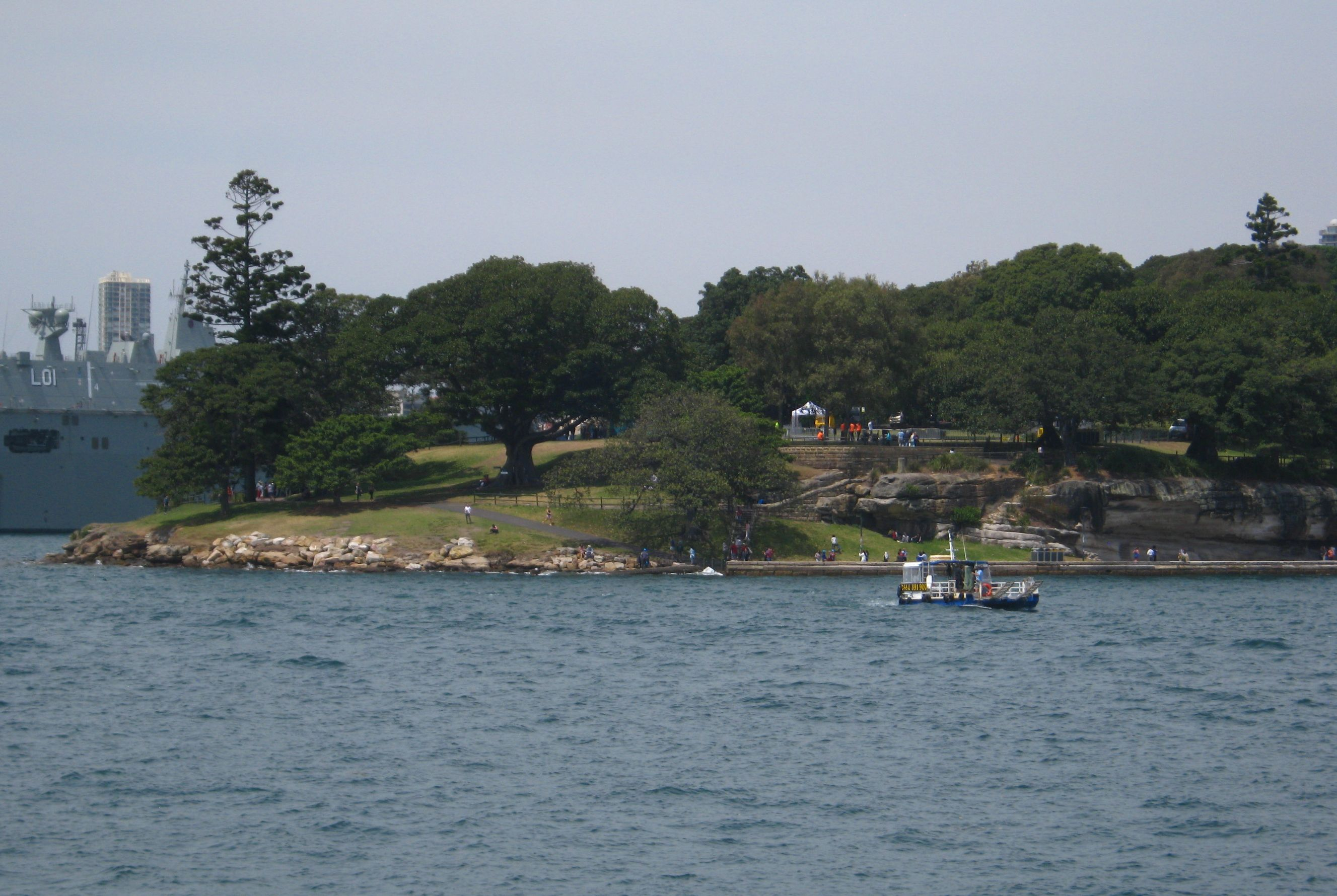 Mrs.Macquarie's Point visto dal battello per Manly.